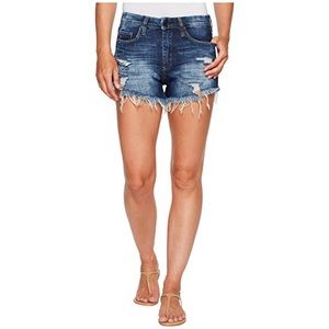 Blank NYC | High Rise Wedgie Distressed Shorts